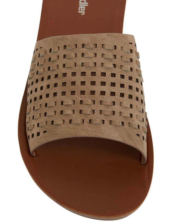 Grid Taupe Smooth Sandals image 7