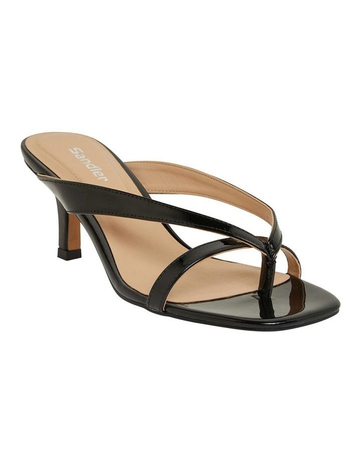 Madrid Black Patent Sandals image 2