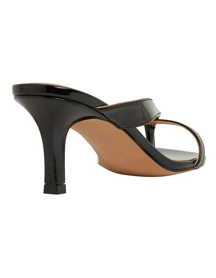 Madrid Black Patent Sandals image 4