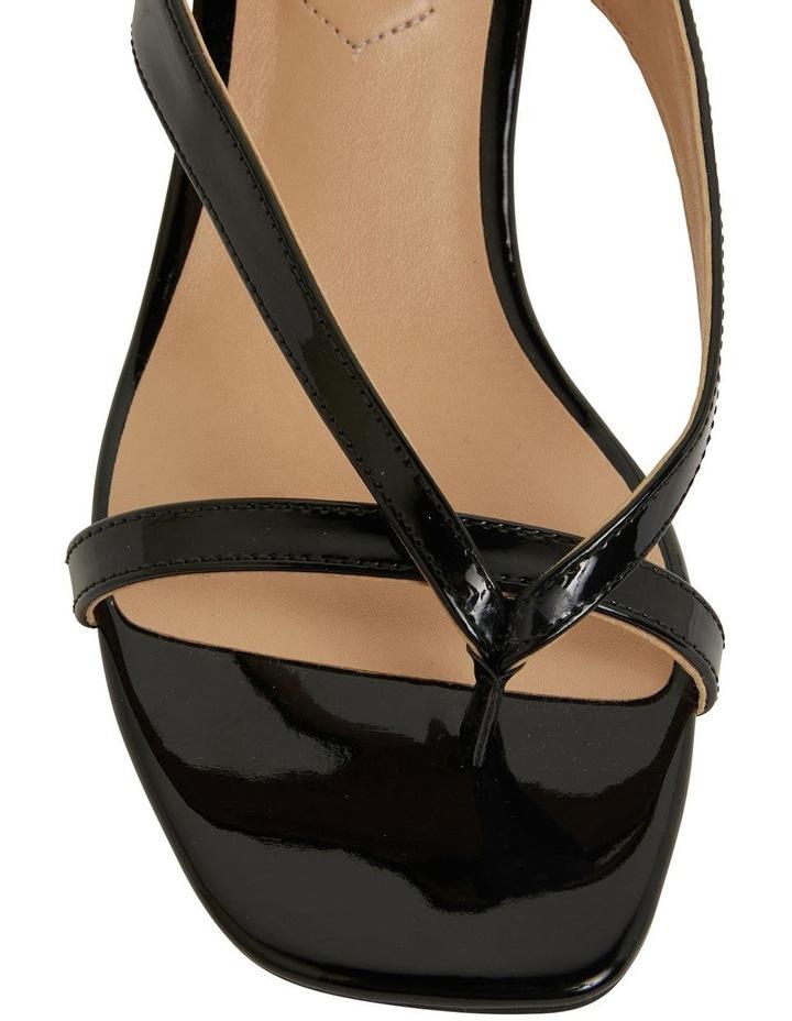 Madrid Black Patent Sandals image 6