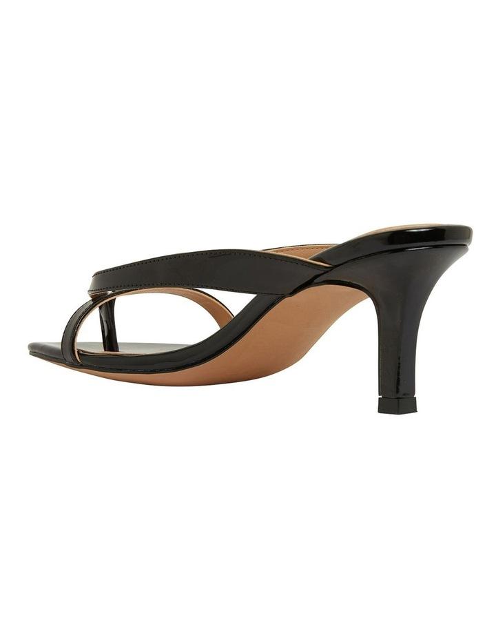 Madrid Black Patent Sandals image 7