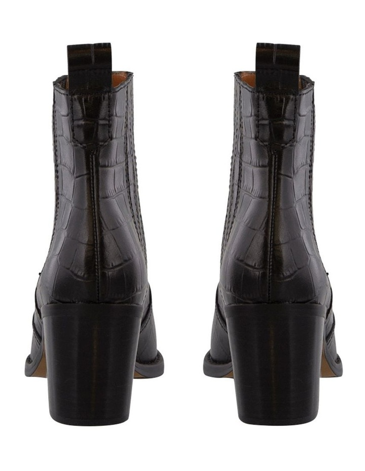 Gloss Black Croc Ankle Boot image 4