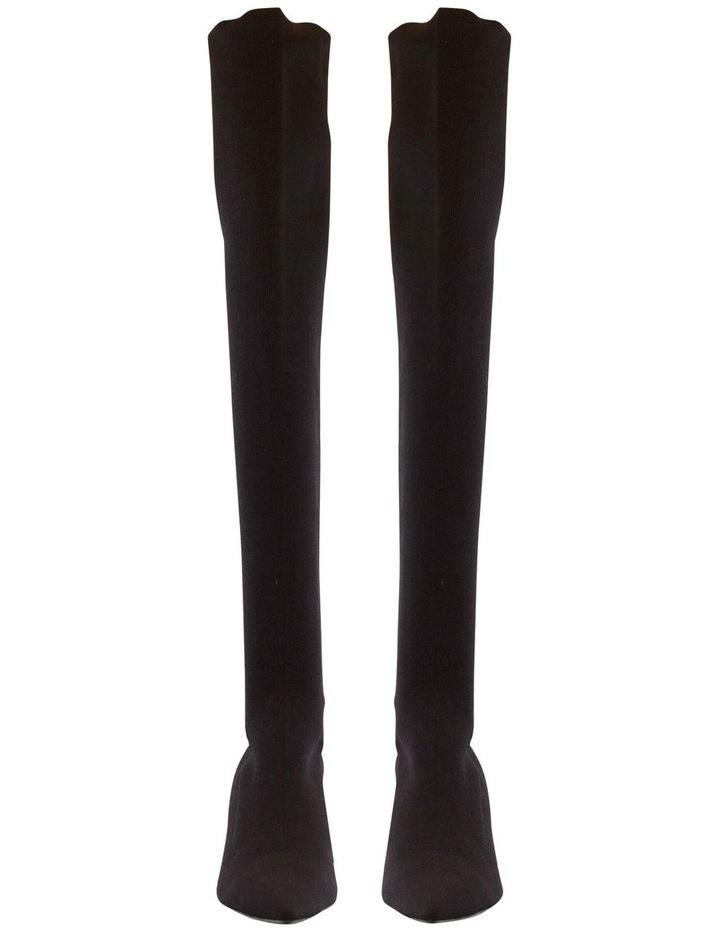 Gracie Black Sock Knit Boots image 2