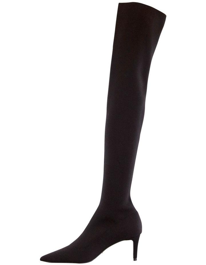 Gracie Black Sock Knit Boots image 3