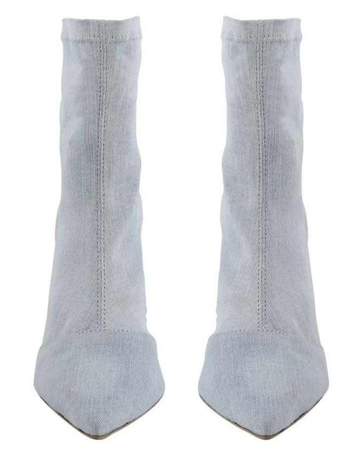 Lottie Blue Wash Denim Ankle Boots image 2