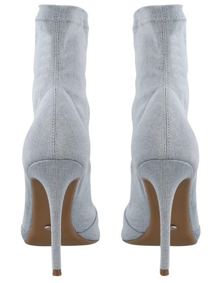 Lottie Blue Wash Denim Ankle Boots image 4