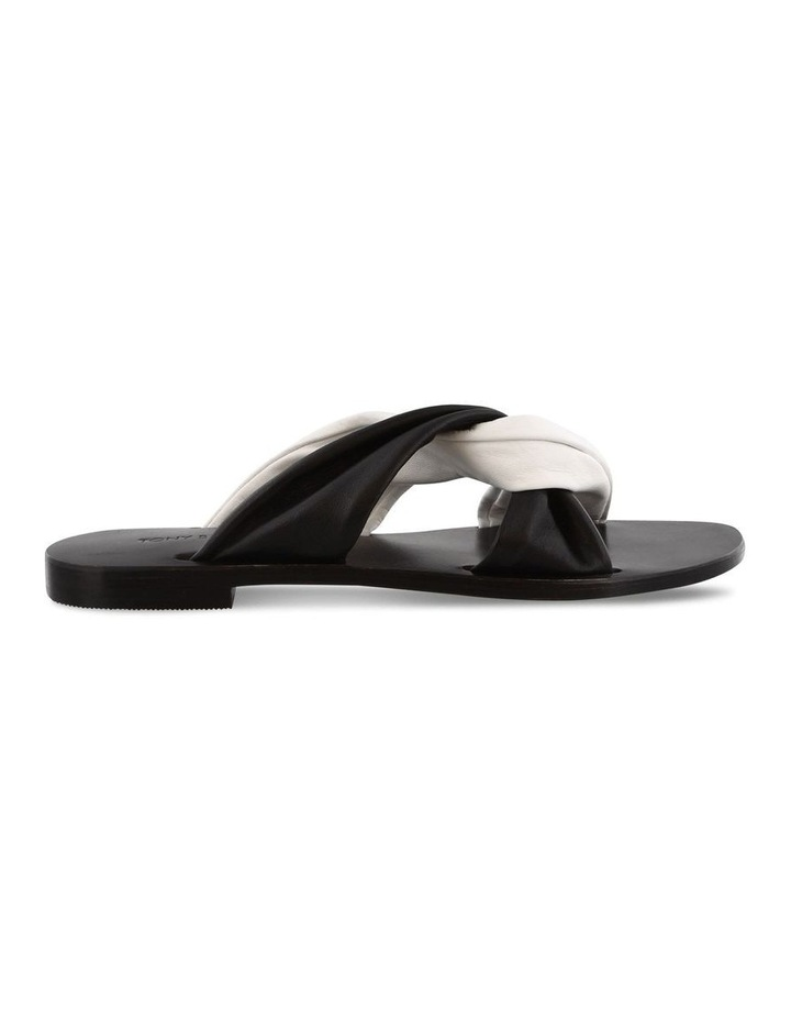 Faye Black/White Sandals image 1