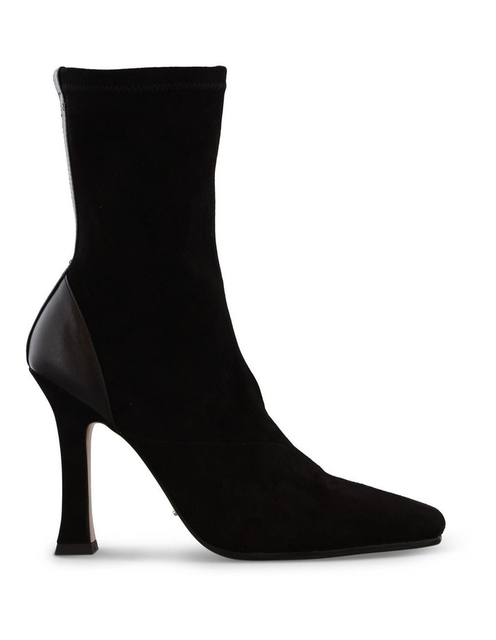 Halee Black Stretch Kid Suede Ankle Boots image 1