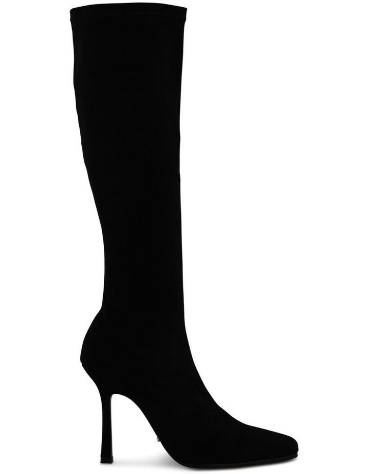 Hamlet Black Stretch Suede Calf Boot image 1