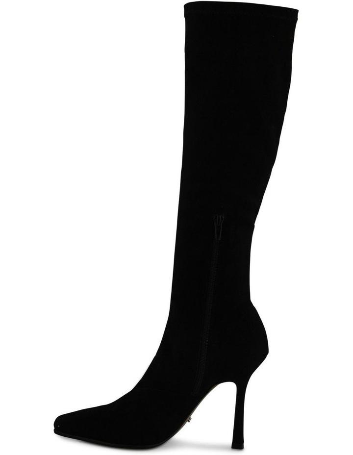 Hamlet Black Stretch Suede Calf Boot image 3
