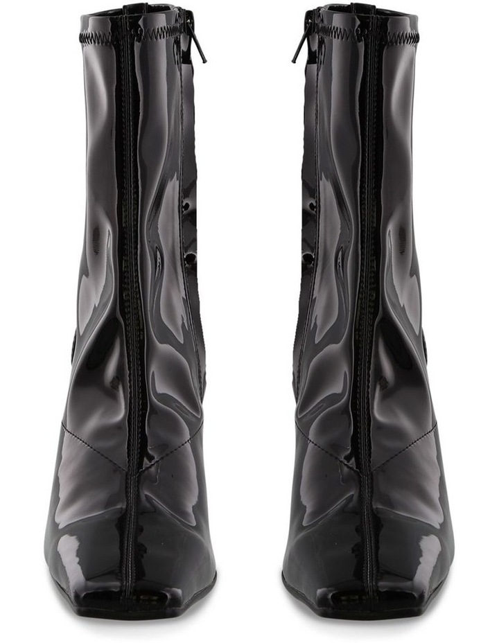Havas Black Stretch Patent Ankle Boot image 2