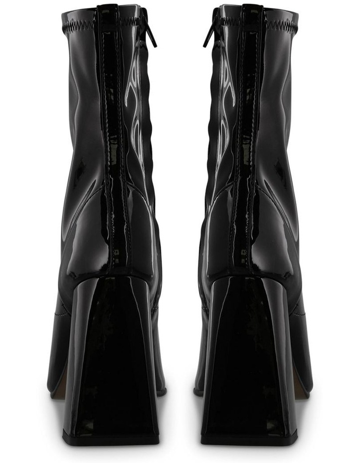 Havas Black Stretch Patent Ankle Boot image 4