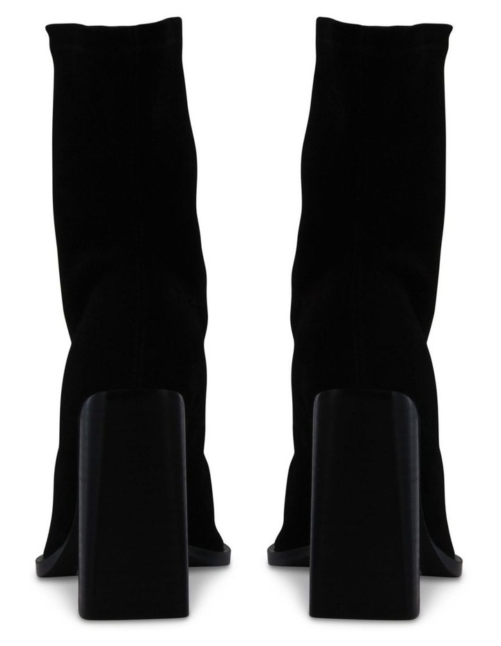 Ines Black Stretch Kid Suede Ankle Boot image 4