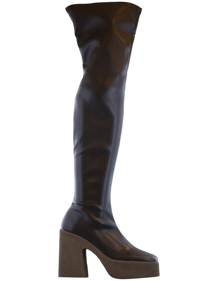 Janey Black Stretch Long Boots image 1