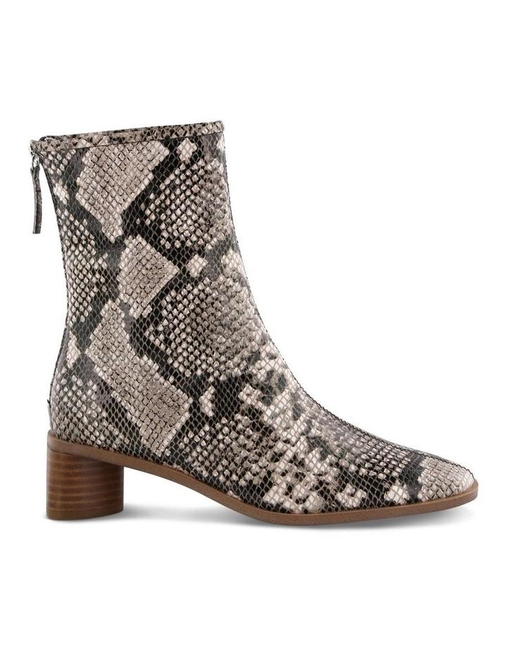 Parisa Cream Python Ankle Boot image 1