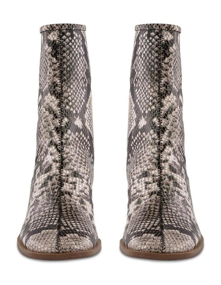 Parisa Cream Python Ankle Boot image 2