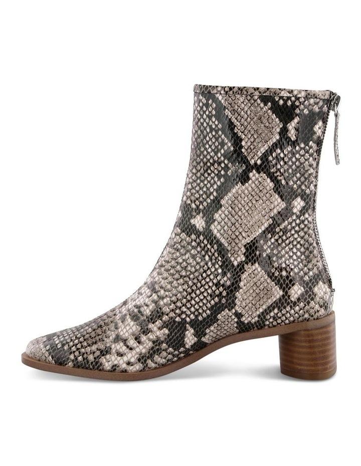 Parisa Cream Python Ankle Boot image 3