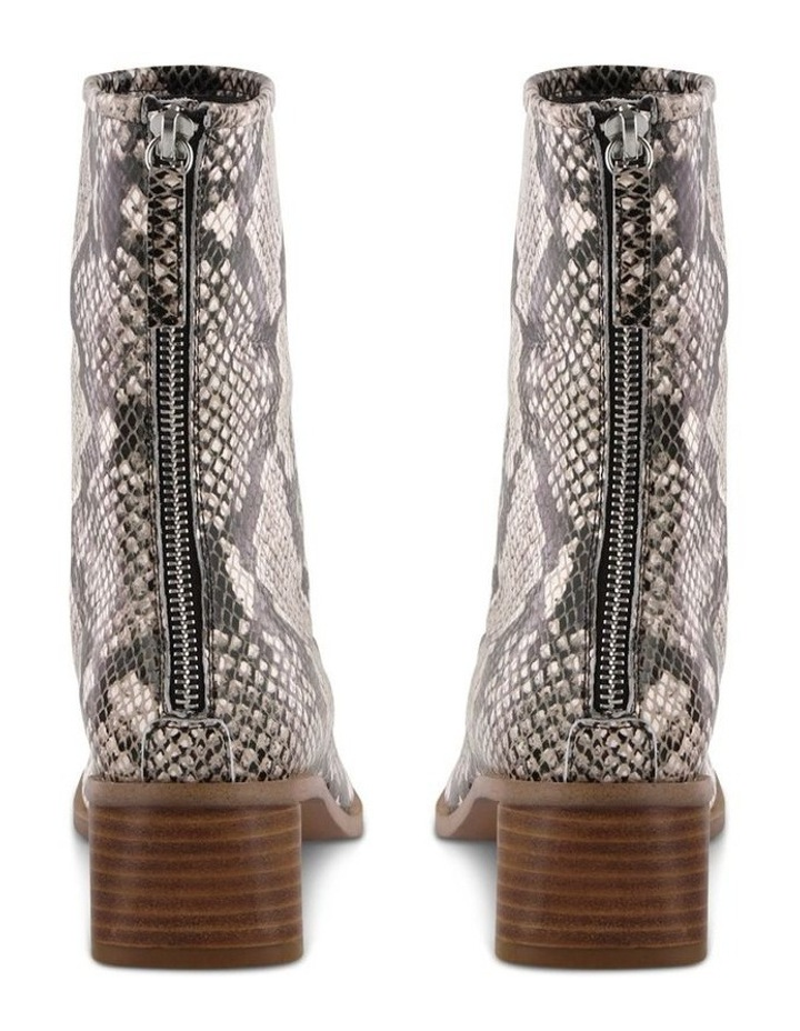 Parisa Cream Python Ankle Boot image 4