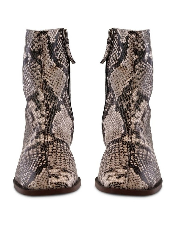 Porta Cream Python Ankle Boots image 2