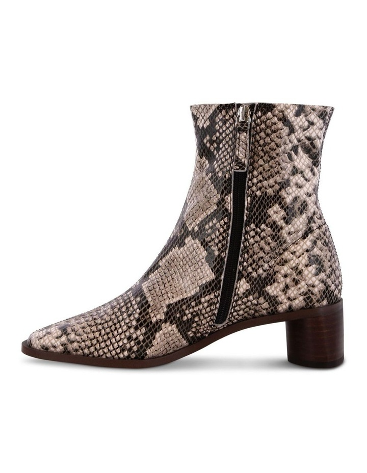 Porta Cream Python Ankle Boots image 3