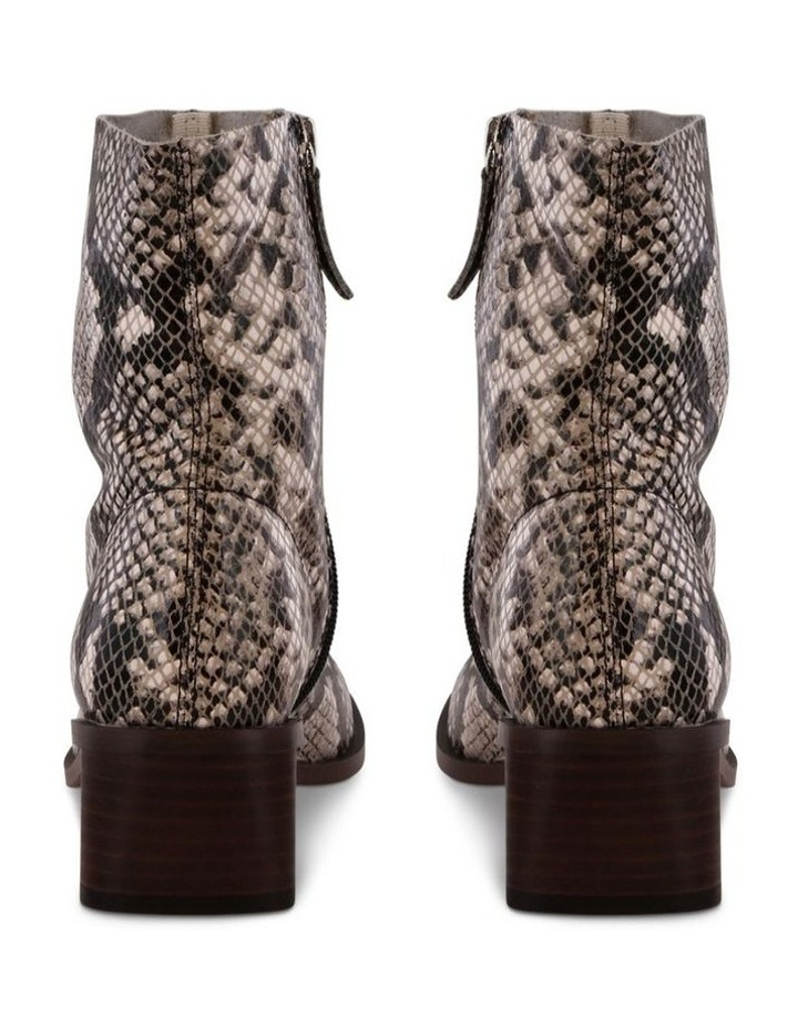 Porta Cream Python Ankle Boots image 4