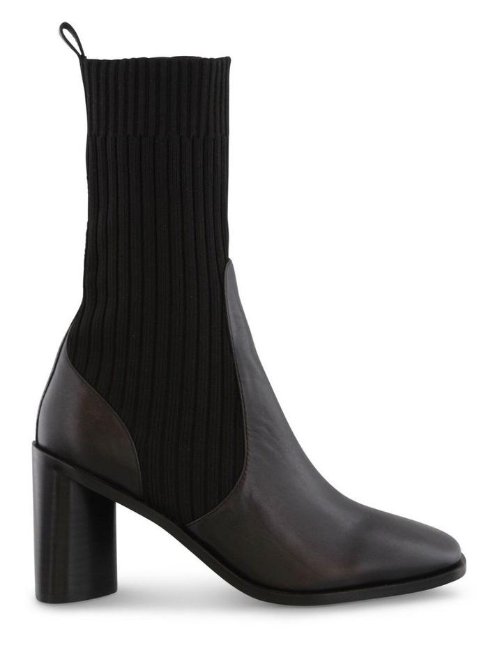 Saki Black Como/Black Sock Calf Boots image 1