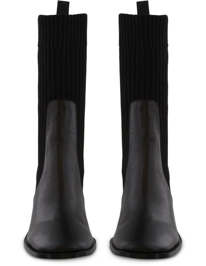 Saki Black Como/Black Sock Calf Boots image 2
