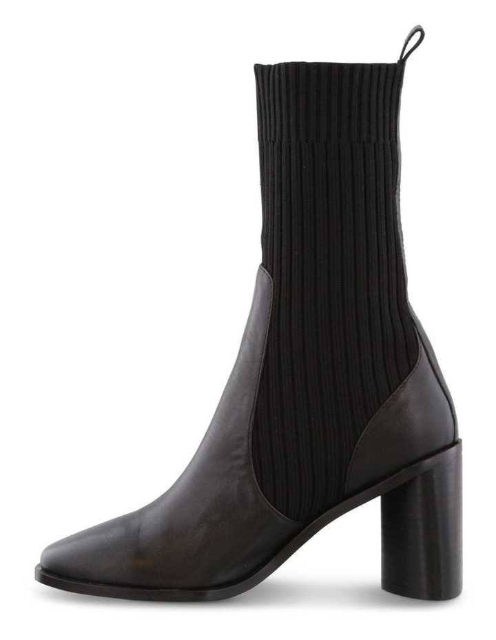 Saki Black Como/Black Sock Calf Boots image 3
