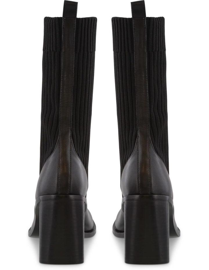 Saki Black Como/Black Sock Calf Boots image 4