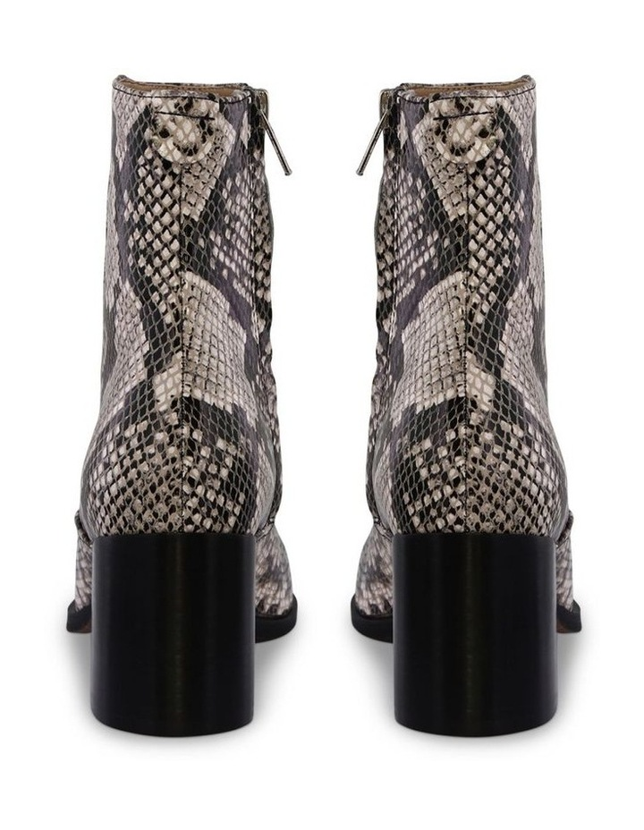 Willa Cream Python Ankle Boot image 4