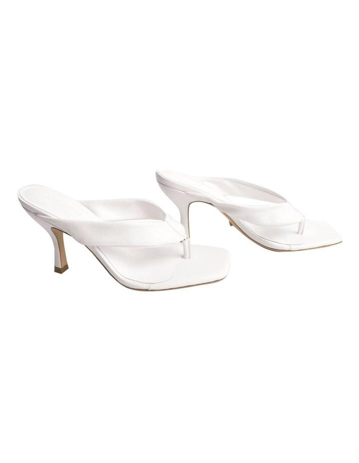 Bellah White Sheep Nappa Heels image 1