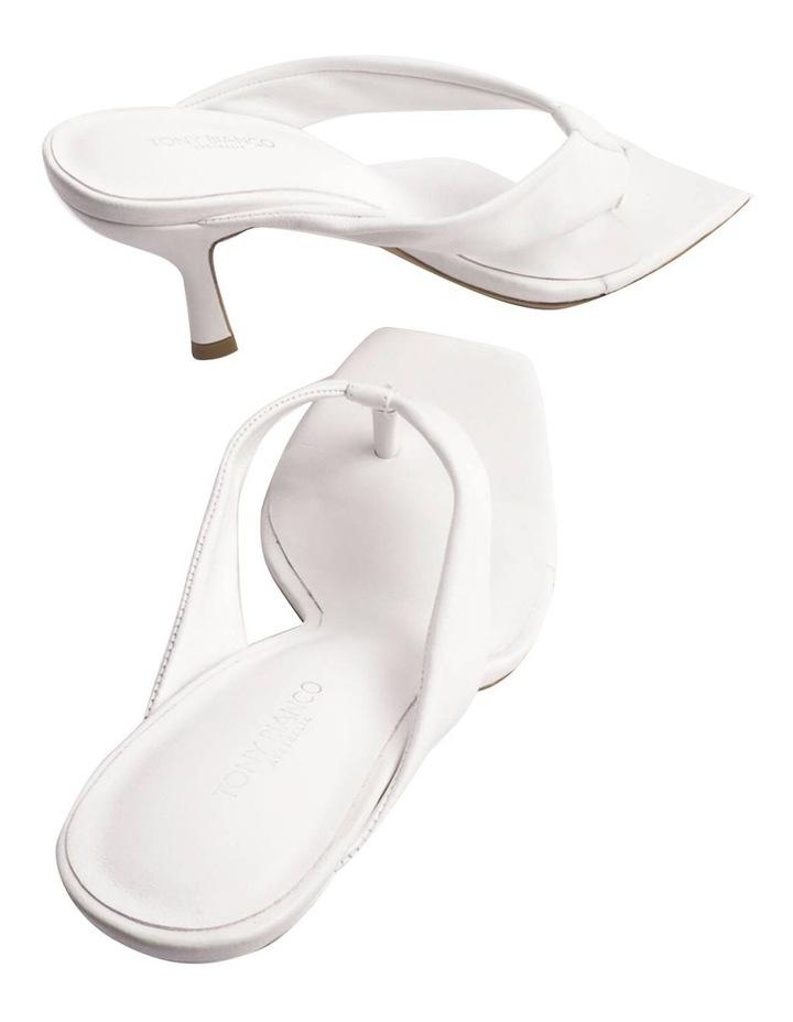 Bellah White Sheep Nappa Heels image 3