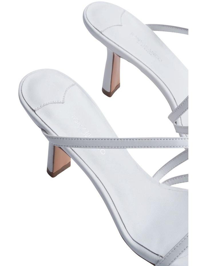 Blossom White Sheep Nappa Heels image 7