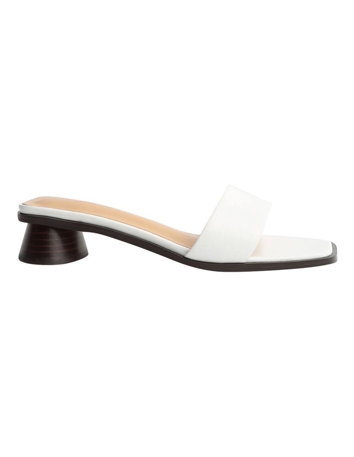 Chelsey White Sheep Nappa Heels image 1