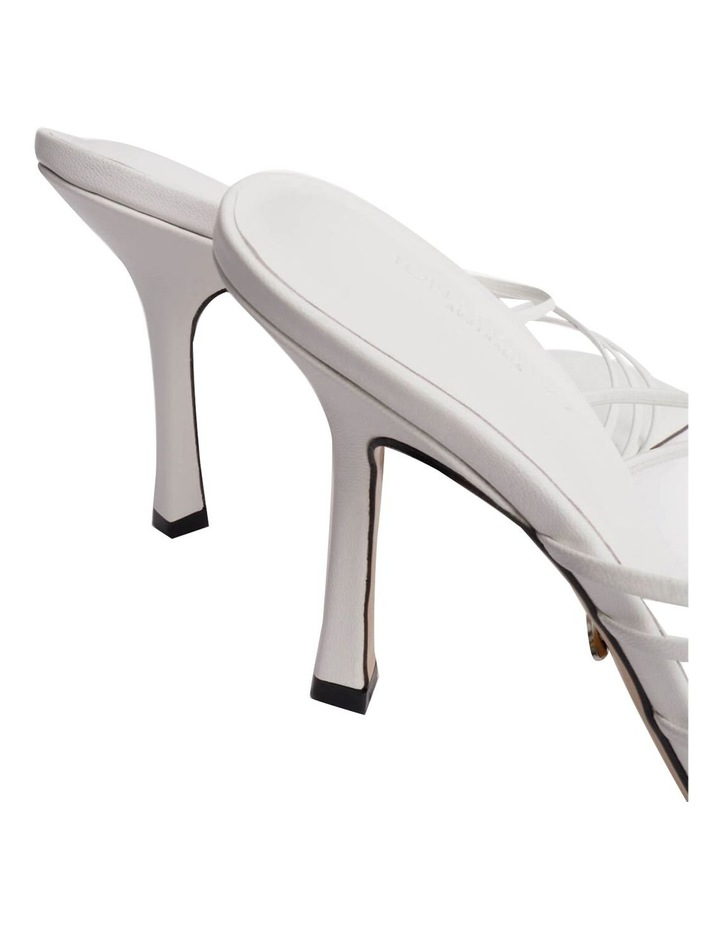 Foxie White Kid Heels image 5