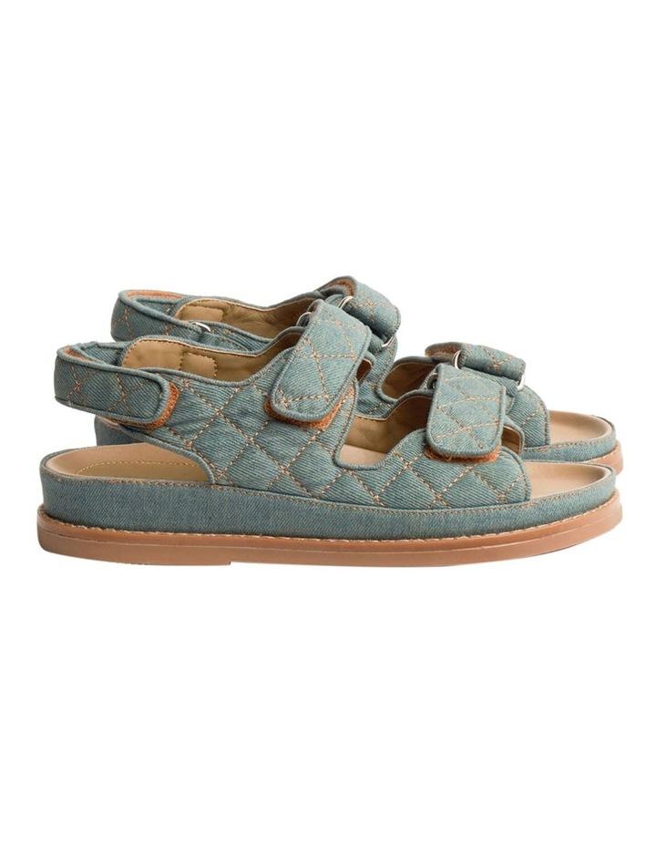 Hiranni Washed Denim Sandals image 1