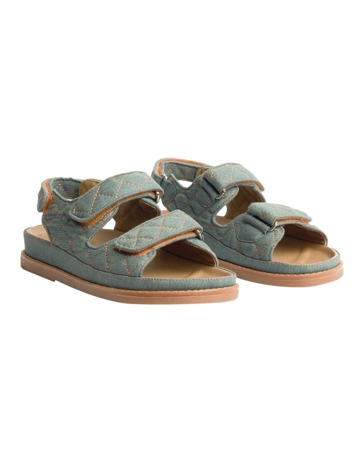 Hiranni Washed Denim Sandals image 2