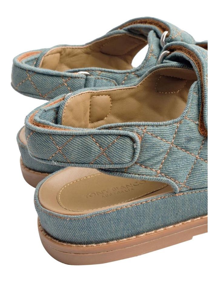 Hiranni Washed Denim Sandals image 3