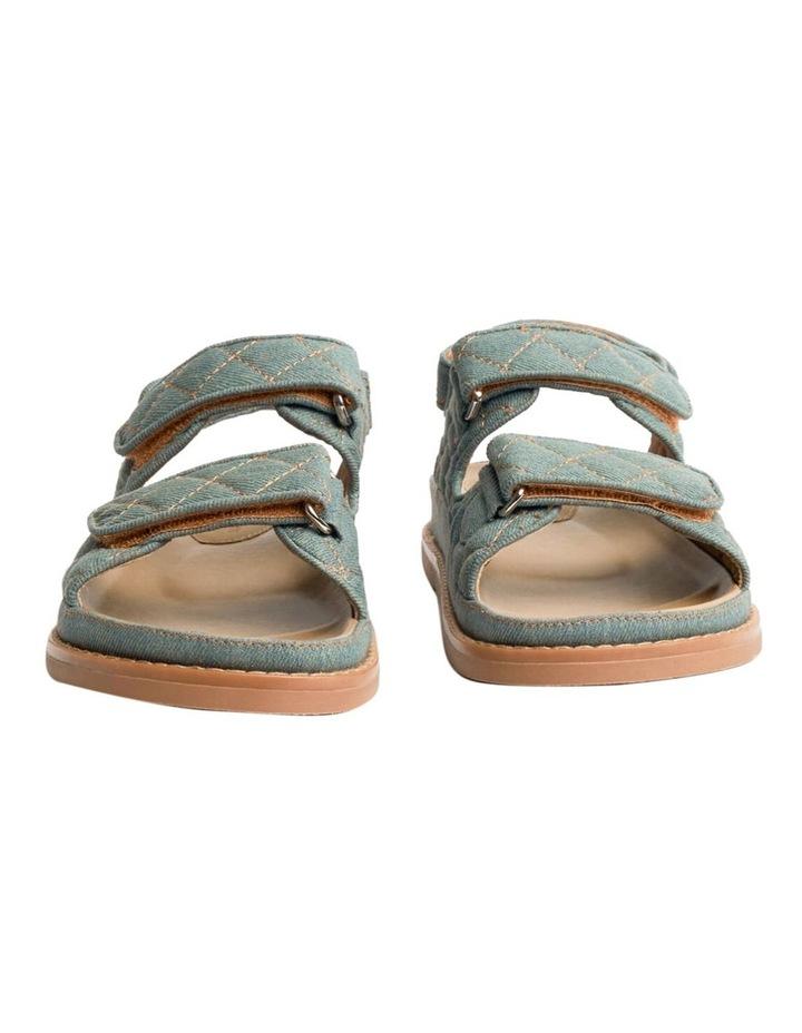 Hiranni Washed Denim Sandals image 4