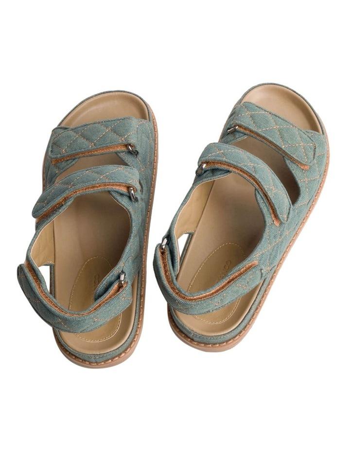 Hiranni Washed Denim Sandals image 5