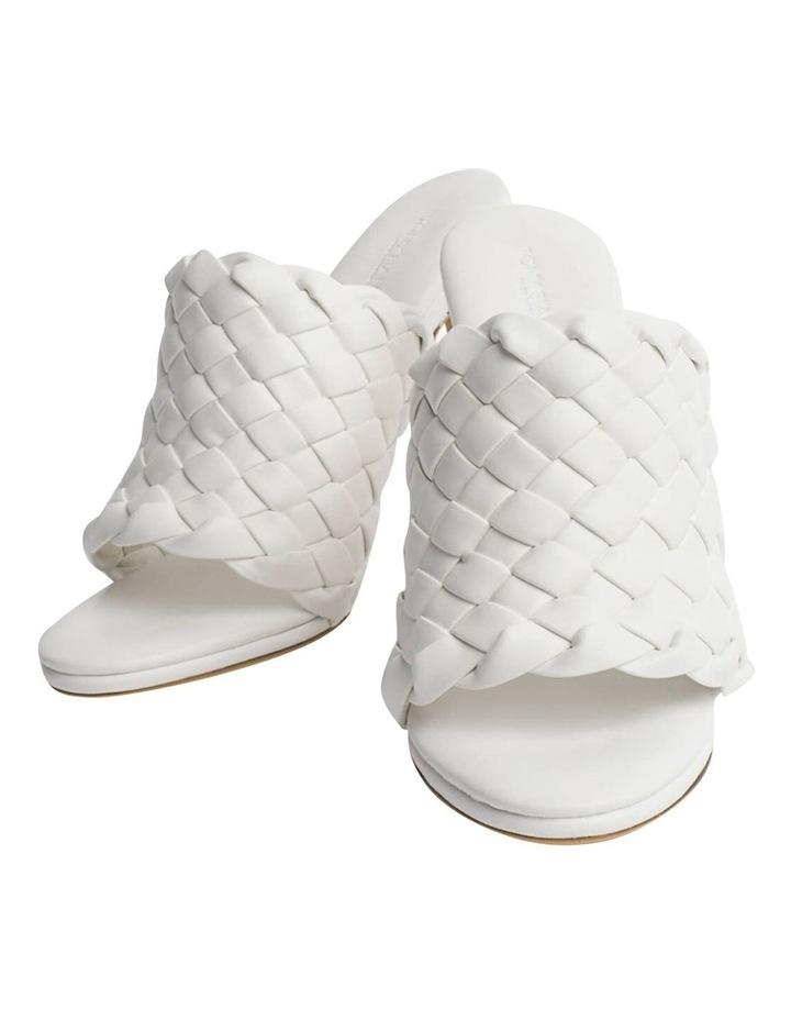 Kaylee White Sheep Nappa Heels image 3