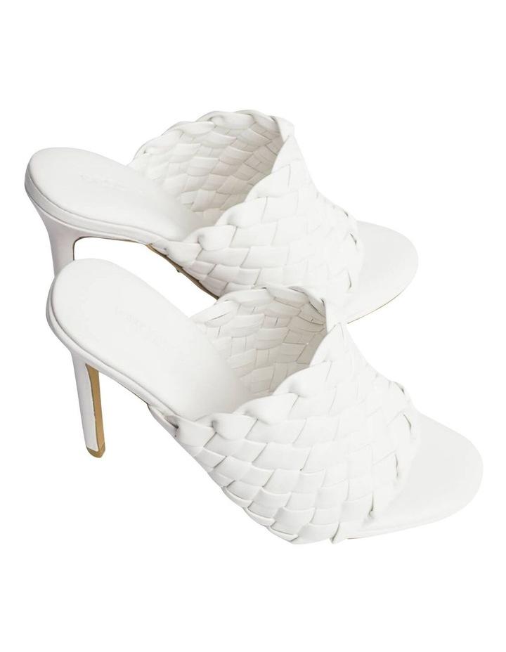 Kaylee White Sheep Nappa Heels image 4