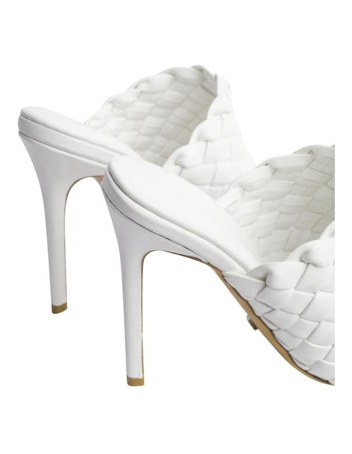 Kaylee White Sheep Nappa Heels image 5