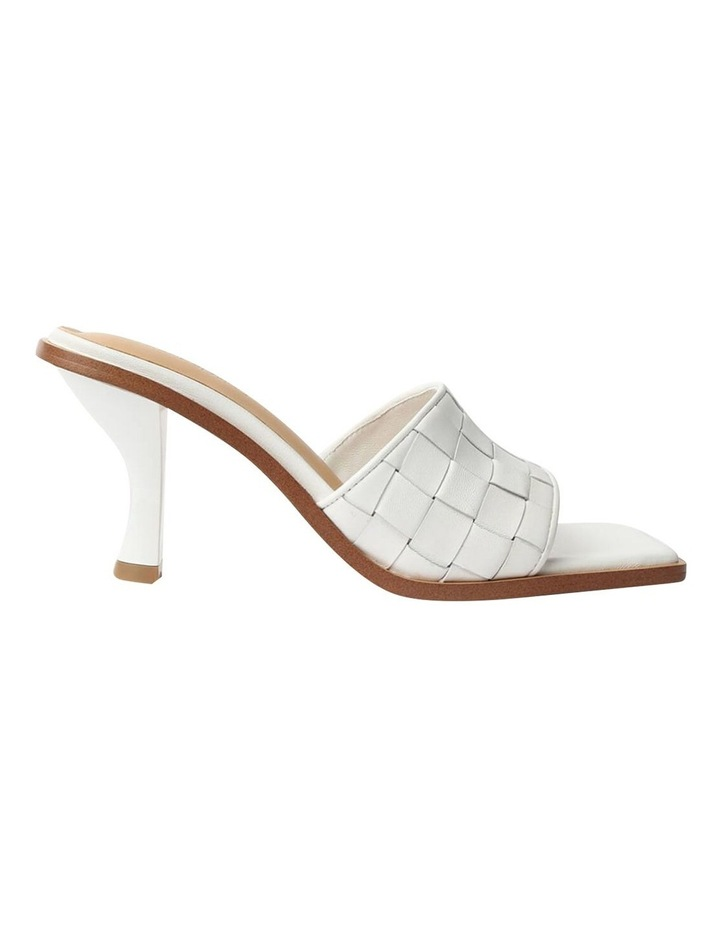 Olivia White Sheep Nappa Heels image 1