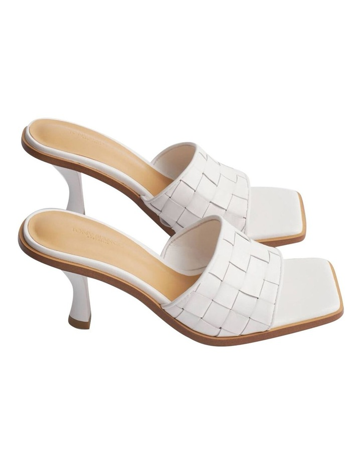 Olivia White Sheep Nappa Heels image 2