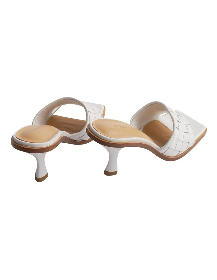 Olivia White Sheep Nappa Heels image 7