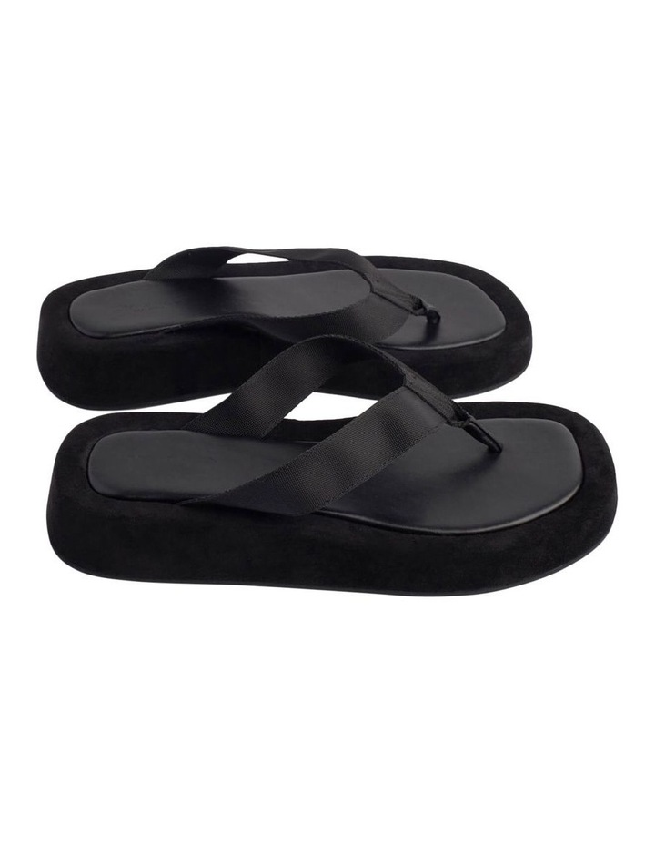Ives Black Nylon Sandals image 3
