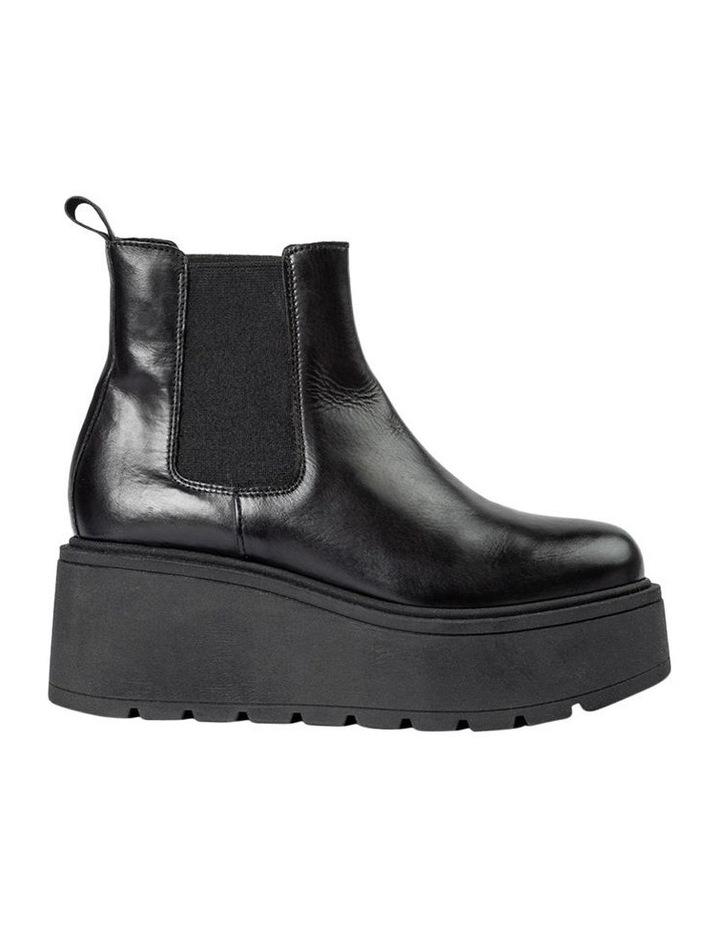Fonze Black Wedge Boots image 1