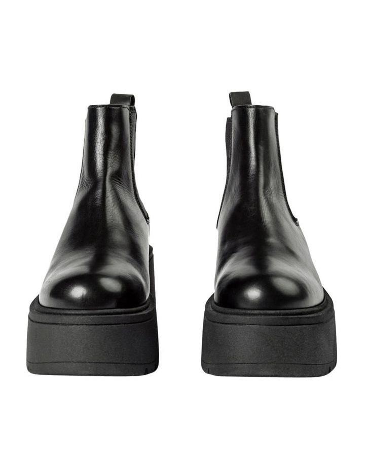 Fonze Black Wedge Boots image 2