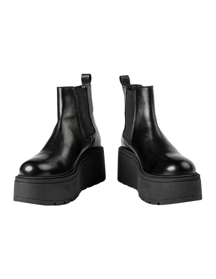 Fonze Black Wedge Boots image 3